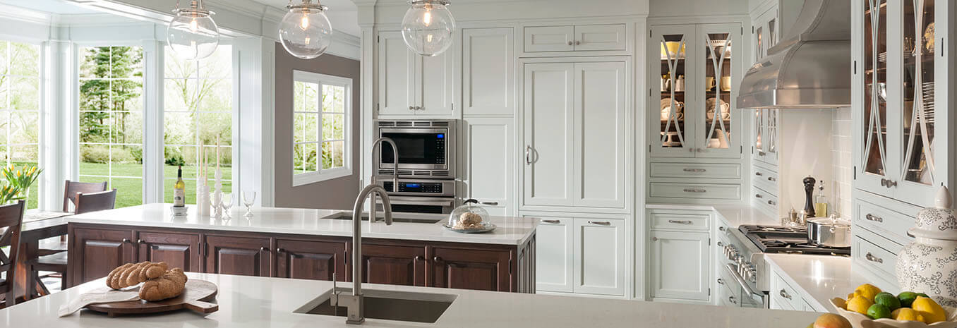 Wood mode cabinets complete kitchen design of mi for Complete kitchen cupboards