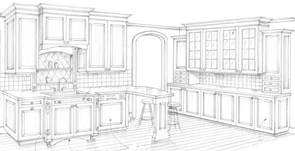 Our unique design process complete kitchen design of mi - Kitchen design process ...